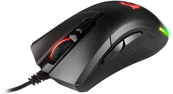 MSI CLUTCH GM50 Gaming USB RGB Adjustable up to 7200 DPI 1ms 6 Buttons Desktop Laptop Gaming Grade Optical Mouse | GM50