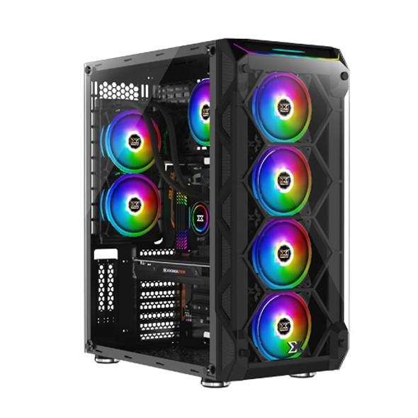 Xigmatek E-ATX Overtake RGB Large Tower Case with Glass Panels (Black)   EN43477