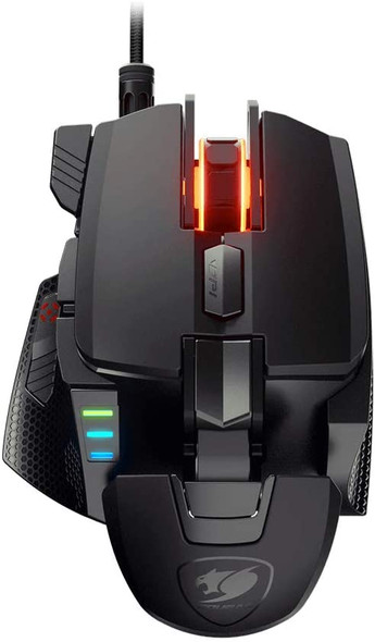 Cougar 700M EVO 16000 DPI Optical Gaming Mouse (Sensor: Pixart PMW3389) with Adjustable Palm Rest, Weights and 8 Fully Configurable Buttons | 700M EVO