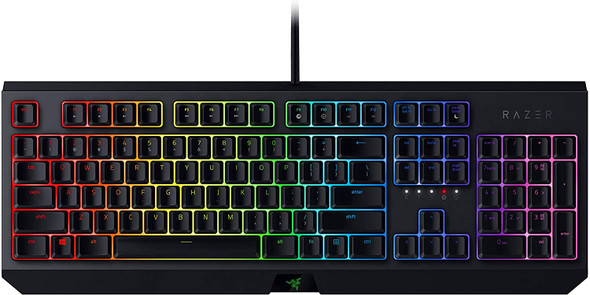 Razer Blackwidow Mechanical Gaming Keyboard, with Razer Green Switches (Clicky and Tactile), RGB Chroma Enabled, US Layout | RZ03-02860100-R3M1