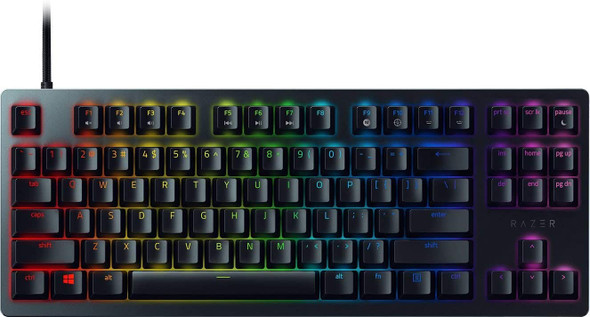 Razer Huntsman Tournament Edition, Compact Gaming Keyboard with Linear Optical Switches, Doubleshot PBT Keycaps- Classic Black | RZ03-03080100-R3M1