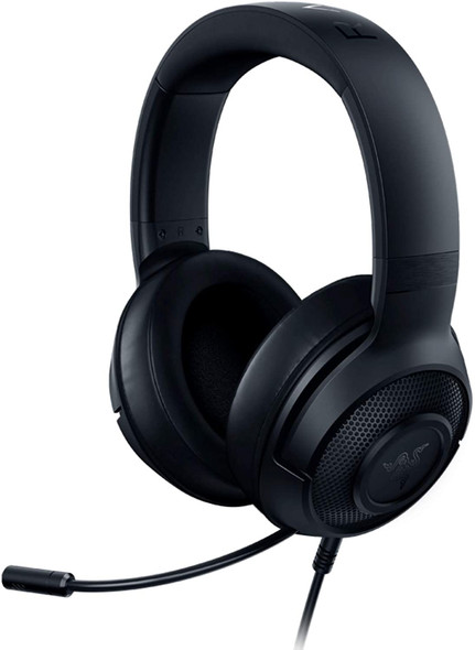 Razer Kraken X Lite Ultralight Gaming Headset: 7.1 Surround Sound - Lightweight Aluminum Frame - Bendable Cardioid Microphone - for PC, PS4, PS5, Switch, Xbox One, Xbox Series X & S, Mobile - Black | RZ04-02950100R381