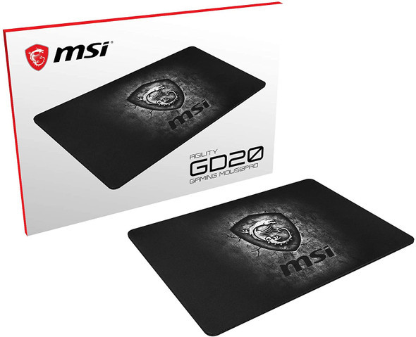 MSI Agility Gaming Ultra-Smooth Low-Friction Textile Surface Non-Slip Natural Rubber Base 5mm Thick Gaming Mouse Pad | GD20