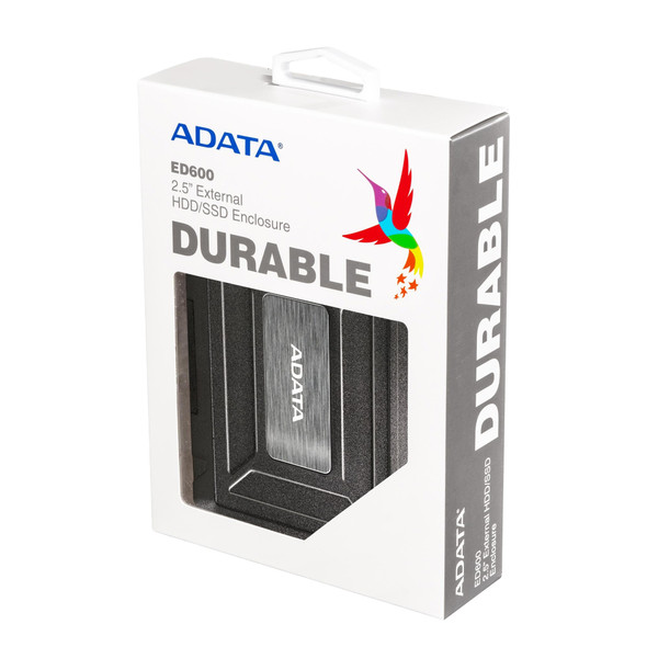 "ADATA ED600  2.5"" EXTERNAL ENCLOSURE HDD/ SSD DURABLE 