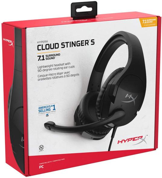 HyperX Cloud Stinger S + 7.1 - Gaming Headset (Black) PC | HHSS1S-AA-BK/G