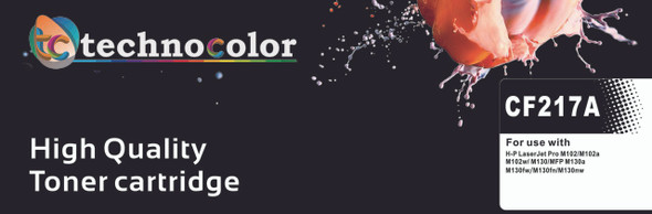 TechnoColor 17A Black HP Compatible LaserJet Toner Cartridge (CF217A)