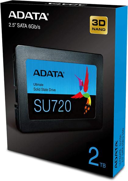 ADATA SU720 2TB  SATA 6Gb/s SSD Sequential Read (Max*) Up to 520MB/s  Sequential Write (Max*) Up to 450MB/s | ASU720SS2T