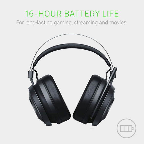 Razer Nari Essential Wireless 7.1 Surround Sound Gaming Headset: THX Spatial Audio - Auto-Adjust Headband & Swivel Cups - Auto-Adjust - Flip Mic - For PC, PS4, PS5 Only - Black | RZ04-02690100-R3U1