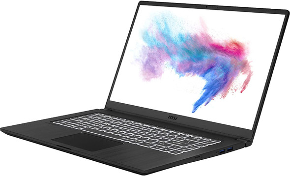 """MSI Computer Modern A10M-455 Ultra Thin 15.6 """"8GB 512GB Intel Core i5-10210U X4 1.6GHz Win10, Black"""