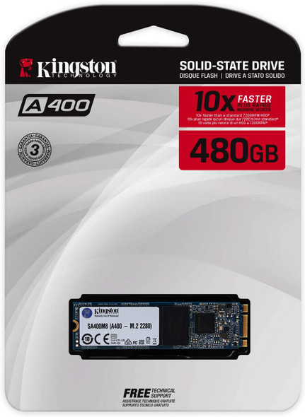 KINGSTON M.2 2280 A400 SSD 480GB   SA400M8/480G