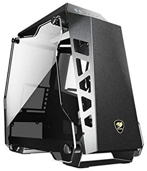 Cougar Conquer Essence Open-design enclosure with aluminum body and tempered glass covers | CONQUER ESSENCE