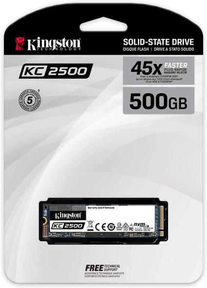 """KINGSTON KC2500 M.2 2280 NVME 2.5"""" 500GB SSD   SKC2500M8/500G"""