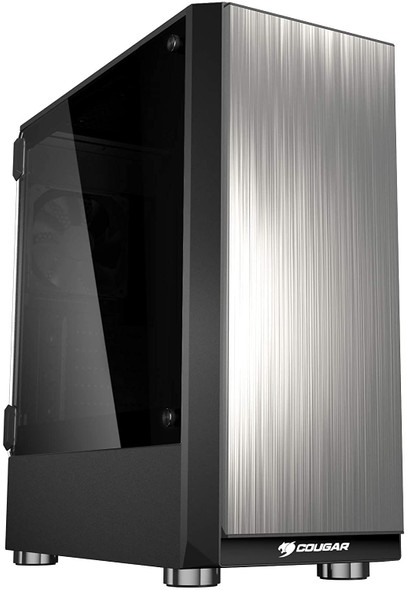 COUGAR CASE TROFEO mid-tower case with brushed steel front panel and hinged tempered glass side panel | TROFEO