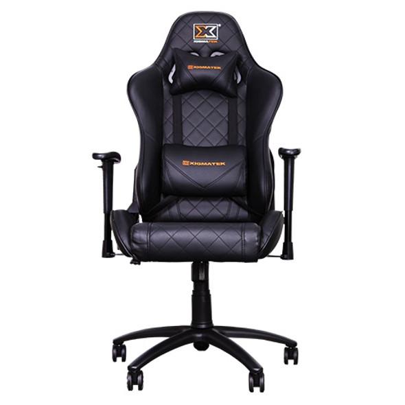 XIGMATEK Hairpin chair (Matt Black, 2D Armrests, Butterfly Mechanism, Class 4 Gas Lift | HAIRPIN
