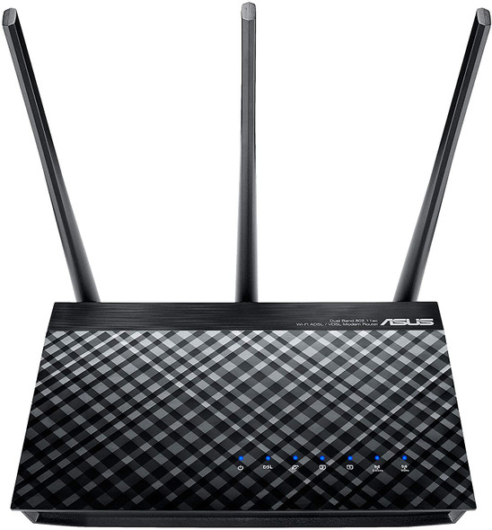 ASUS DSL-AC51 AC750 Dual-Band ADSL/VDSL Wi-Fi Modem Router with Parental Controls | 90IG0471-BO3100