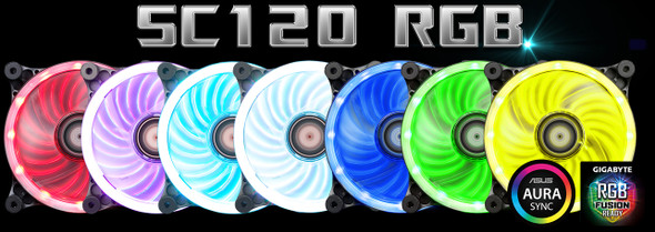 XIGMATEK SC120 RGB LED fans | EN9481