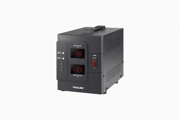 PROLINK 1KVA AUTO VOLTAGE REGULATOR W/LCD | PVR1000D