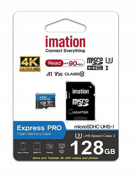 IMATION MICRO SDXC 64GB-128GB EXPRESS PRO,  A1 V30, ULTRA HD, UP TO 90MB/S