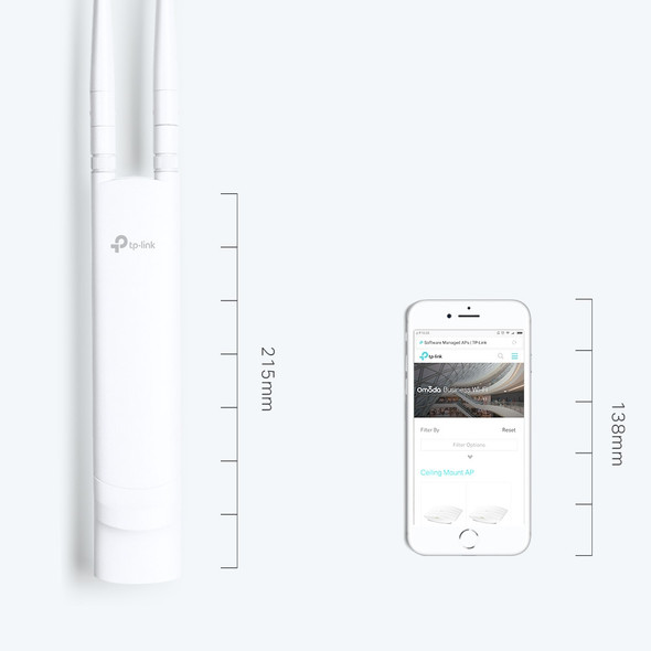 TP-Link Omada EAP110-Outdoor N300 Wireless Outdoor Access Point | EAP110-Outdoor