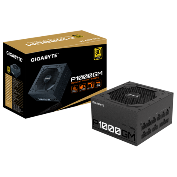 Gigabyte Power Supply 1000W 80 Plus Gold Certified | GP-P1000GM