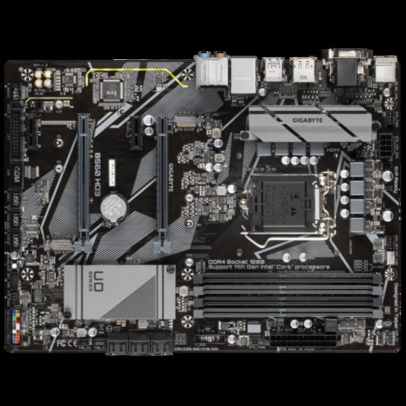 Intel B560 Ultra Durable Motherboard with Direct 6+2 Phases Digital VRM, Full PCIe 4.0* Design, PCIe 4.0 M.2, GIGABYTE 8118 Gaming LAN, RGB FUSION 2.0, Q-Flash Plus | B560 HD3
