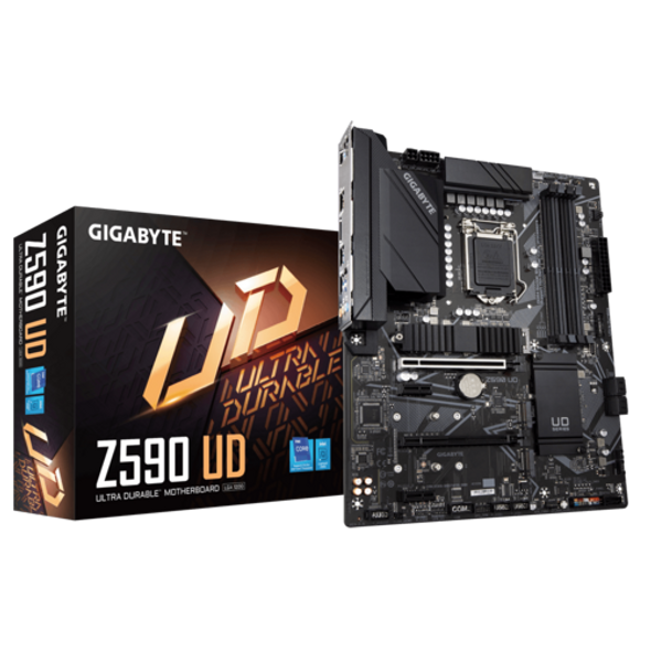 Intel Z590 Ultra Durable Motherboard with Direct 12+1 Phases Digital VRM and DrMOS, Full PCIe 4.0* Design, Extended Thermal Design with Integrated IO Armor, PCIe 4.0 M.2 with Thermal Guard, 2.5GbE Gaming LAN, USB TYPE-C , RGB FUSION 2.0, Q-Flash Plus | Z590 UD