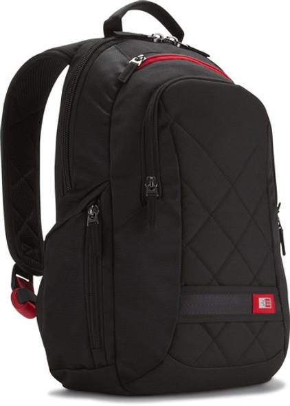 "Case Logic Sporty polyester 14"" backpack, fullsize, black | DLBP114K"