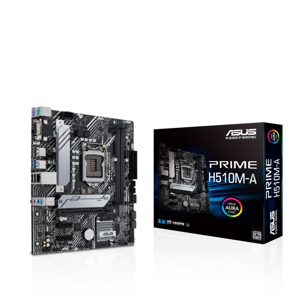 Intel® H510 (LGA 1200) micro ATX motherboard with PCIe 4.0, 32Gbps M.2 slot, Intel® 1 Gb Ethernet, DisplayPort, HDMI, D-Sub, USB 3.2 Gen 1 Type-A, SATA 6 Gbps | 90MB17C0-M0EAY0
