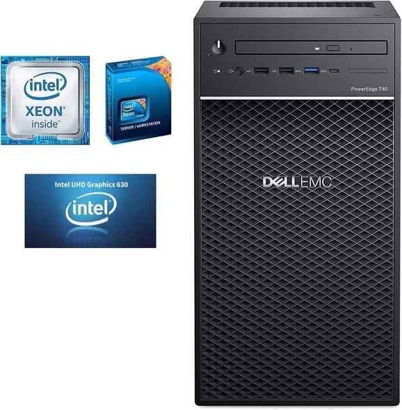 Dell PowerEdge T40 Server, BTX Intel Xeon E-2224G 3.5GHz, 8GB 2666MT/s DDR4, 1TB 7.2K RPM SATA | D24M003