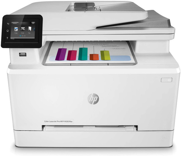 HP Color LaserJet Pro M283fdw Wireless All-in-One Laser Printer, Remote Mobile Print, Scan & Copy, Duplex Printing, Works with Alexa | 7KW75A