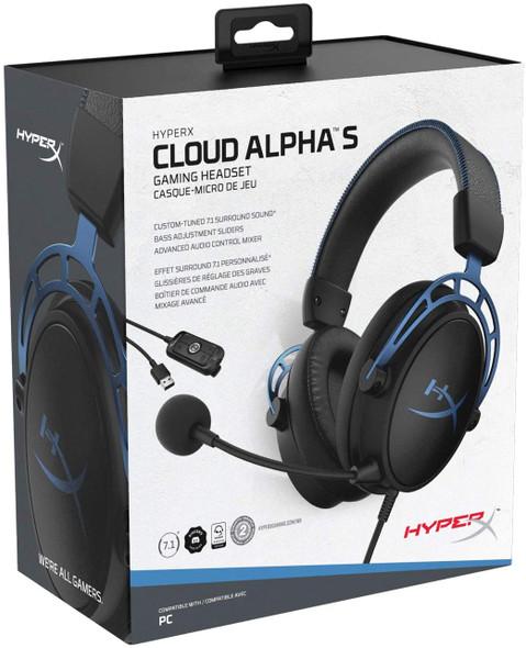 HyperX Cloud Alpha S - Gaming Headset (Blue) | HX-HSCAS-BL/WW