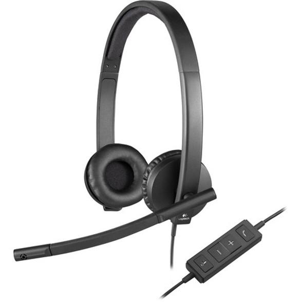 Logitech USB Headset H570e Stereo - Black (Copy of LOGITE02)