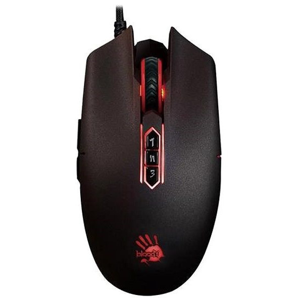 Bloody Infrared-Micro-Switch 12000 CPI RGB Animation Gaming Mouse, USB Black,Activated | P80PRO