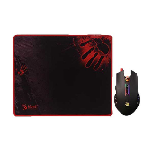Bloody Gaming Mouse Bundle (Q81+B-081S), USB Black | Q8181S