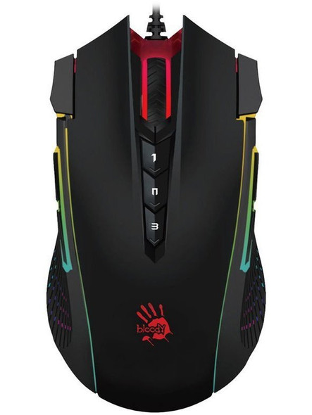 Bloody RGB Gaming Mouse USB Black, Activated | J90