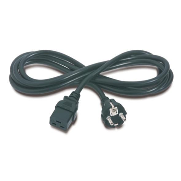APC Power Cord, C19 to CEE/7 Schuko, 2.5m   AP9875