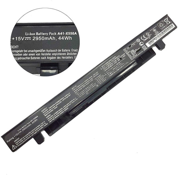 Replacement Laptop Battery for ASUS A41-X550A A41-X550 Laptop Battery for Asus A450 A550 F450 K450 K550 X450 X550 X550CA X751M(15V 2950mAh 44Wh )