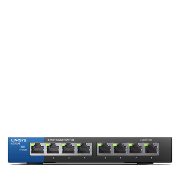 Linksys 8-Port Business Desktop Gigabit Switch | LGS108