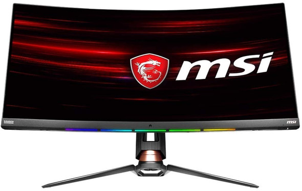 """MSI Non-Glare Ultra Wide 21: 9 Aspect ratio 3440 X 1440 (Uwqhd) 144Hz Refresh Rate 1ms HDR 400 3K Resolution 34"""" Freesync Curved Gaming Monitor,Black   OPTIX MPG341CQR"""
