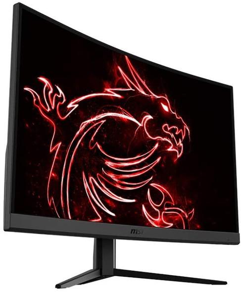 "MSI 32"" FHD 1500R Curvature Non-Glare Super Narrow Bezel 1ms 1920 x 1080 165Hz Refresh Rate Tilt Adjustment FreeSync Curved Gaming Monitor, Black   Optix G32C4"