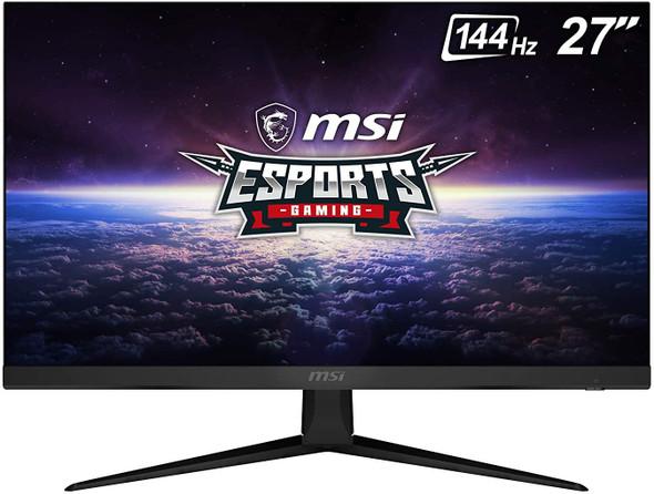 "MSI 27"" FHD (1920 x 1080) Non-Glare with Super Narrow Bezel 144Hz 1ms 16:9 HDMI/DP AMD Radeon FreeSync IPS Gaming Monitor, Black | OPTIX G271"