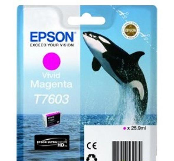 Epson Ultrachrome® HD, Killer Whale, Singlepack, 26mlVivid Magenta   T76034010