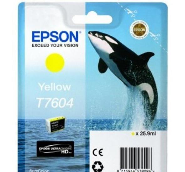 Epson Ultrachrome® HD, Killer Whale, Singlepack, 26mlYellow | T76044010