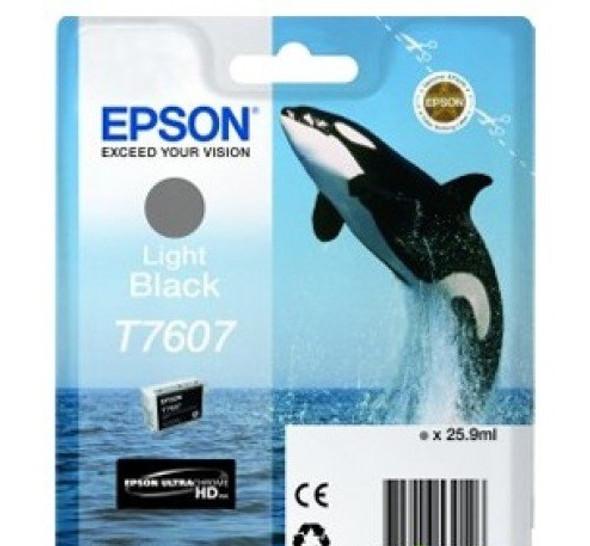 Epson Ultrachrome® HD, Killer Whale, Singlepack, 26mlLight Black   T76074010