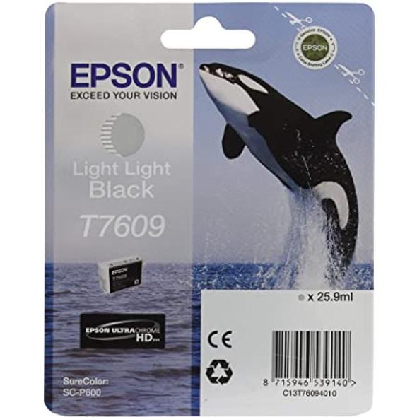 Epson Ultrachrome® HD, Killer Whale, Singlepack, 26mlLight Light Black   T76094010