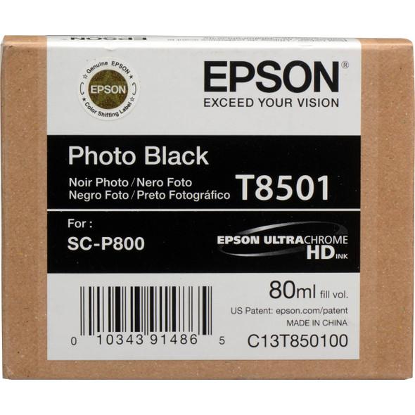 Epson Ink Cartridges, Ultrachrome® HD, T8501, Killer Whale, Singlepack, 1 x 80.0mlBlack | T850100