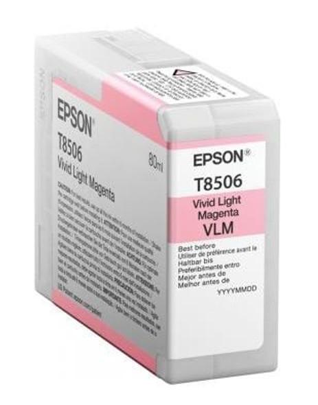 Epson Ink Cartridges, Ultrachrome® HD, T8506, Singlepack, 1 x 80.0mlLight Magenta | C13T850600