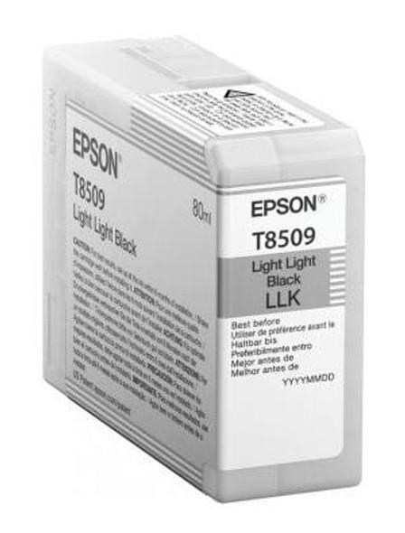 Epson Ink Cartridges, Ultrachrome® HD, T8509, Singlepack, 1 x 80.0mlLight Light Black | C13T850900