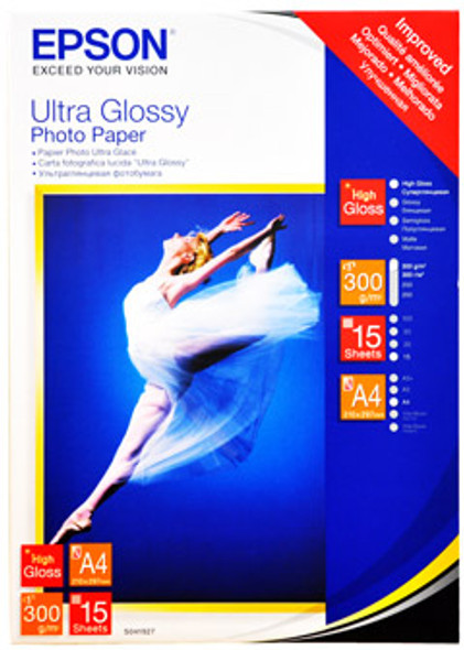 Epson Ultra Glossy Photo Paper, DIN A4, 300g/m², 15 Sheets | C13S041927