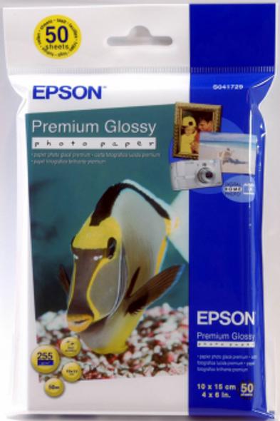 Epson Premium Glossy Photo Paper, 100 x 150 mm, 255g/m², 50 Sheets | C13S041729